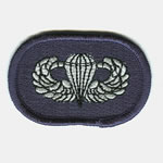 19th SF Group Oval with Basic Airborne Wings - Item Number: P-10300