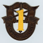 Special Forces Crest Patch with 1st Group Number (Subdued w/ Gold) - Item Number: P-01200S