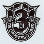 Special Forces Crest Patch with 3rd Group Number - Item Number: P-01500