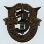 Special Forces Crest Patch with 3rd Group Number (Subdued) - Item Number: P-01600S