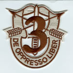 Special Forces Crest Patch with 3rd Group Number (Desert) - Item Number: P-01800D
