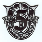 Special Forces Crest Patch with 5thGroup Number - Item Number: P-02000