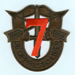 Special Forces Crest Patch with 7th Group Number (Subdued w/ Red) - Item Number: P-02700S