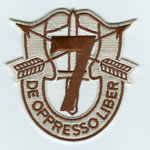 Special Forces Crest Patch with 7th Group Number (Desert) - Item Number: P-02800D