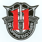 Special Forces Crest Patch with 11th Group Number - Item Number: P-03500