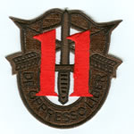 Special Forces Crest Patch with 11th Group Number (Subdued w/ Red) - Item Number: P-03700S