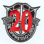 Special Forces Crest Patch with 20th Group Number - Item Number: P-04600