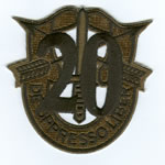 Special Forces Crest Patch with 20th Group Number (Subdued) - Item Number: P-04700S