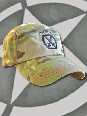 SpartanCap 10th Mountain Division (#042) -Tactical Team Cap Multicam - TCT-008-Emblem042