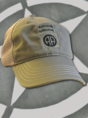 SpartanCap 82nd Airborne Division with Ranger Tab (#073) DT630