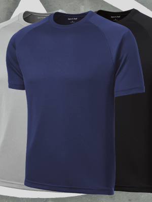 Sport-Tek® Dry Zone® Short Sleeve Raglan T-Shirt